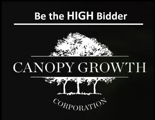 Canopy Growth Online Auction